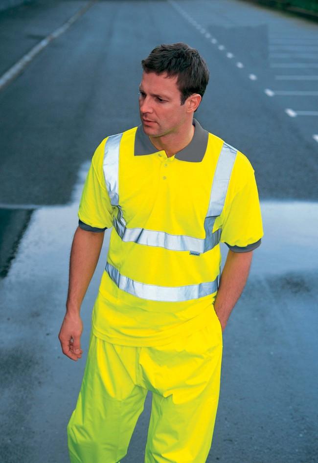 Polo haute visibilité SA22075 - Yellow en vente chez Textile Direct