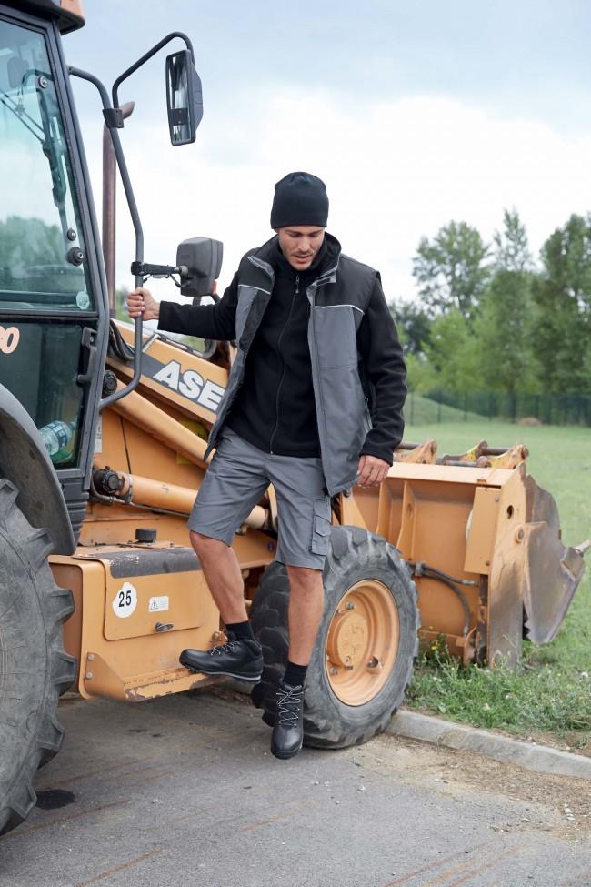 Bodywarmer workwear matelassé K6109 - Convoy Grey / Black en vente chez Textile Direct
