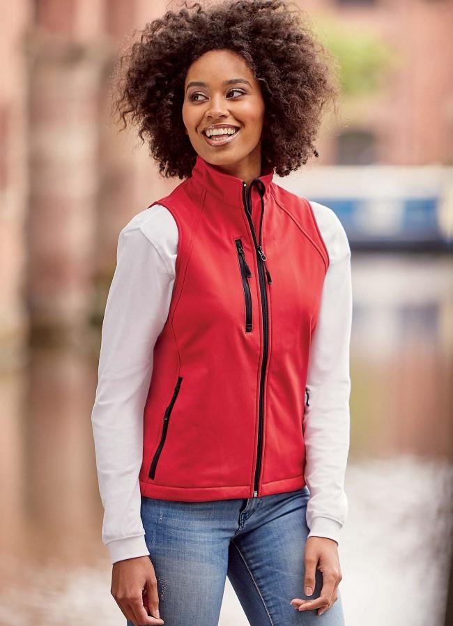 Bodywarmer softshell femme RU141F - Classic Red en vente chez Textile Direct
