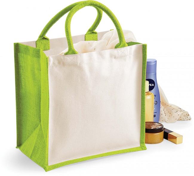 Sac cabas en jute W421 - Apple Green en vente chez Textile Direct