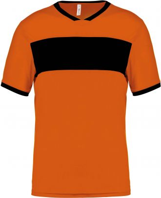 Maillot adulte polyester manches courtes PA4000 - Orange / Black