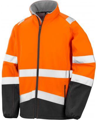 Veste softshell haute visibilité R450X - Fluorescent Orange / Black
