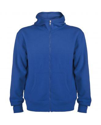 Sweat-shirt capuche avec fermeture éclair MONTBLANC bleu royal