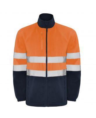 Veste polaire haute visibilité ALTAIR marine / orange fluo