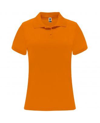Polo manches courtes MONZHA WOMAN orange fluo