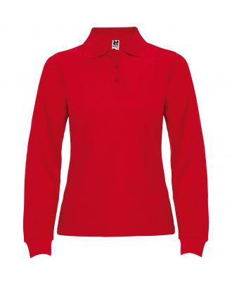 Polo femme manches longues ESTRELLA WOMAN L/S rouge