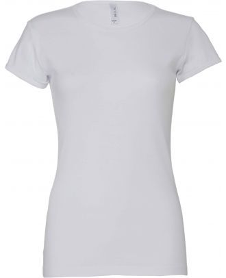 T-shirt femme col rond manches courtes BE1001 - White