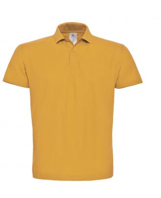 Polo homme manches courtes ID.001 PUI10 - Chili Gold