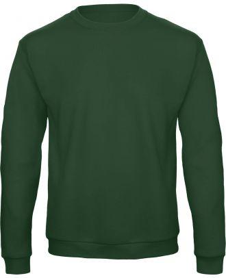 Sweatshirt col rond ID.202 WUI23 - Bottle Green de face