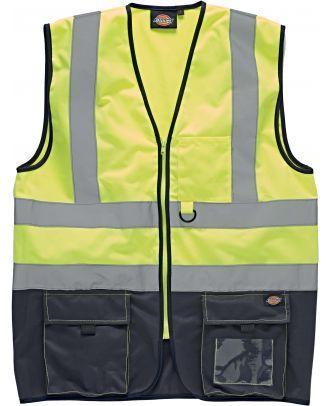 Gilet Bicolore Haute Visibilité SA22021 - Yellow / Navy