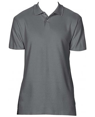 Polo homme Softstyle double piqué GI64800 - Charcoal