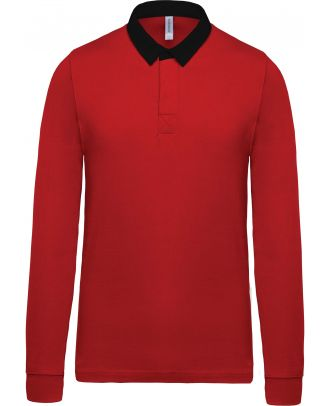 Polo rugby K213 - Red / Black