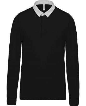 Polo enfant rugby K214 - Black / White