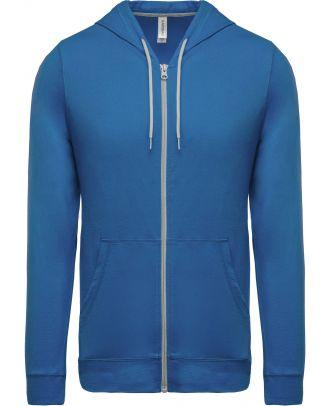 Veste coton légère à capuche K438 - Light Royal Blue