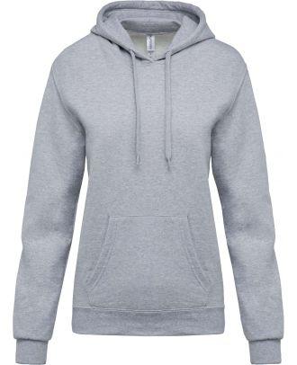 Sweat-shirt femme à capuche K473 - Oxford Grey