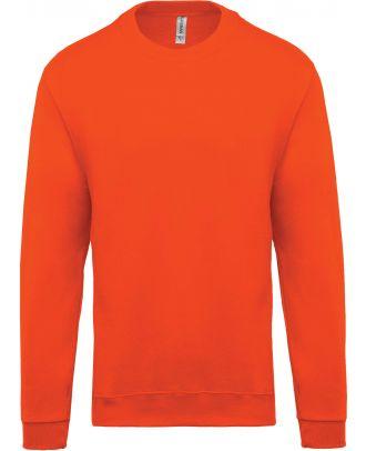 Sweat-shirt unisexe col rond K474 - Orange