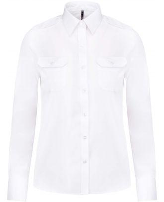 Chemise manches longues femme pilote K506 - White