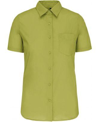 Chemise manches courtes femme Judith K548 - Burnt Lime