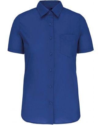 Chemise manches courtes femme Judith K548 - Light Royal Blue