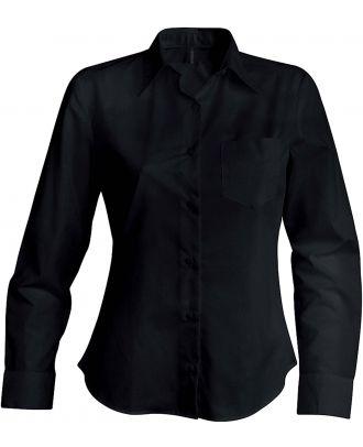 Chemise manches longues femme Jessica K549 - Black