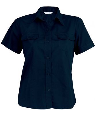 Chemise manches courtes femme popeline Tropical Lady K572 - Navy