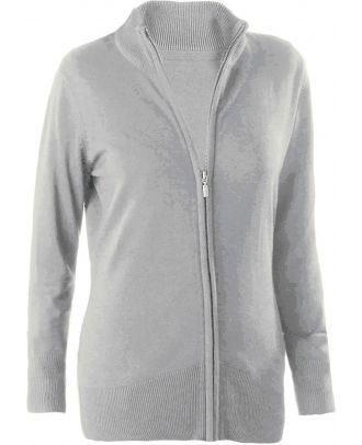 Cardigan femme zippé K962 - Grey Melange