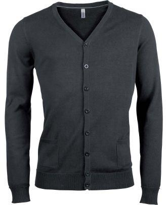 Cardigan boutonné K979 - Dark Grey