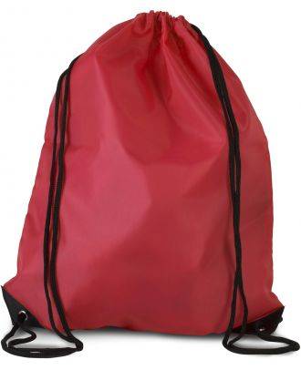Sac à dos avec cordelettes KI0104 - Cherry Red - 44 x 34 cm