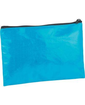 Pochette / étui en coton enduit personnalisable KI0714 - Turquoise