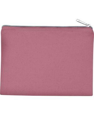 Pochette en coton canvas personnalisable KI0721 - Light Marsala / Silver