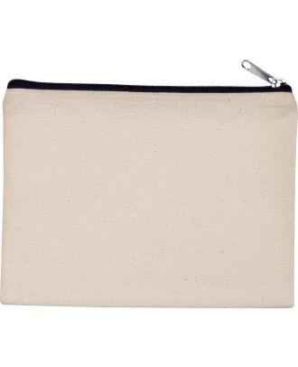 Pochette en coton canvas personnalisable KI0721 - Natural / Black