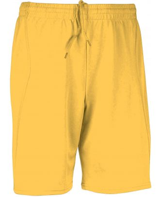Short enfant de sport PA103 - Sporty Yellow