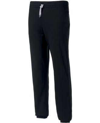Pantalon enfant de jogging en coton léger PA187 - Black