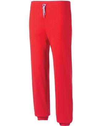 Pantalon enfant de jogging en coton léger PA187 - Red