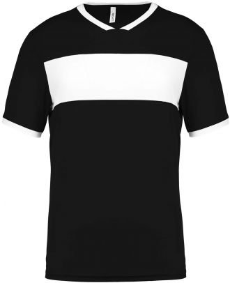 Maillot enfant polyester manches courtes PA4001 - Black / White