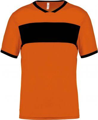 Maillot enfant polyester manches courtes PA4001 - Orange / Black