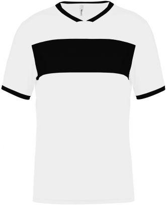 Maillot enfant polyester manches courtes PA4001 - White / Black