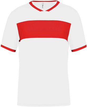 Maillot enfant polyester manches courtes PA4001 - White / Sporty Red