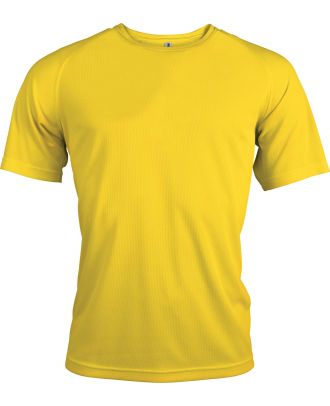 T-shirt homme manches courtes sport PA438 - True Yellow