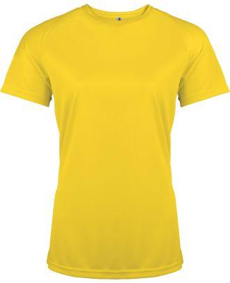 T-shirt femme manches courtes sport PA439 - True Yellow