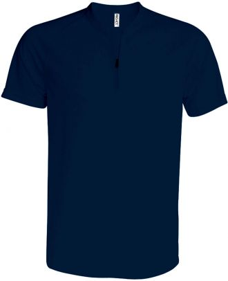 T-shirt 1/4 zip manches courtes unisexe PA486 - Sporty Navy