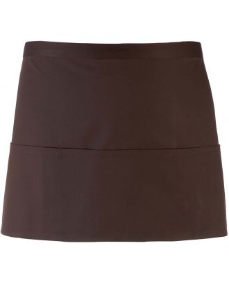 """Tablier taille """"Colours"""" 3 poches PR155 - Brown"""