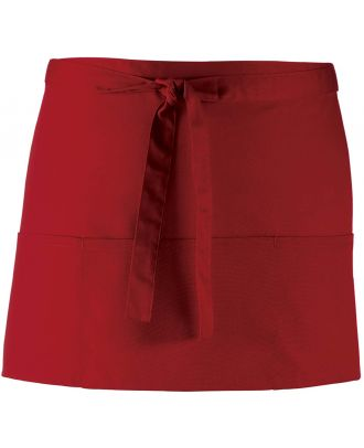 """Tablier taille """"Colours"""" 3 poches PR155 - Burgundy"""