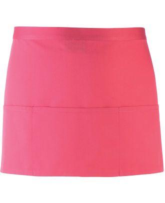 "Tablier taille ""Colours"" 3 poches PR155 - Fuchsia"