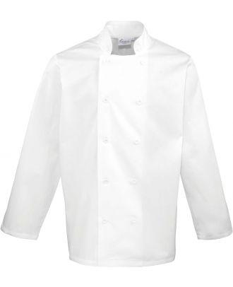 Veste de cuisine manches longues PR657 - White