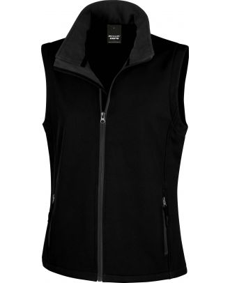 Bodywarmer Softshell Femme Printable R232F - Black / Black