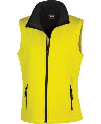Bodywarmer Softshell Femme Printable R232F - Yellow / Black