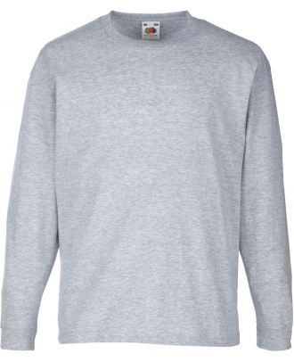 T-shirt enfant manches longues valueweight SC61007 - Heather Grey