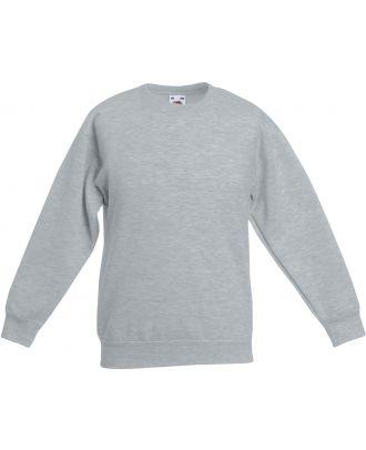 Sweat-shirt enfant col rond classic SC62041 - Heather Grey