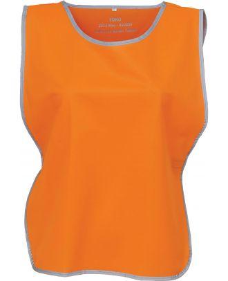 Chasuble à bordure réfléchissante HVJ259 - Hi Vis Orange
